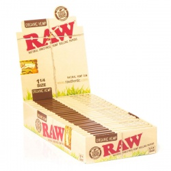 24 RAW Organic 1¼ Size Rolling Papers Full Box