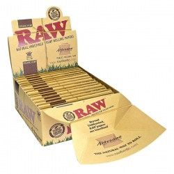 15 RAW Organic Artesano King Size Slim Rolling Papers & Tips Full Box