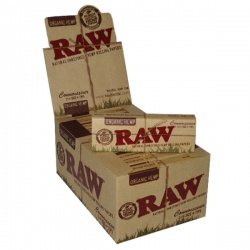 24 RAW Organic Connoisseur 1¼ Size Rolling Papers with Tips Full Box