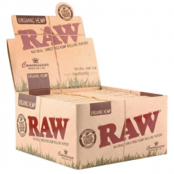 24 RAW Organic Connoisseur King Size Slim Rolling Papers & Tips Full Box