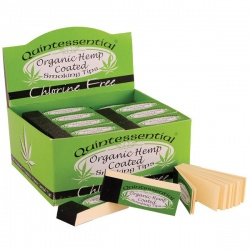 50 Quintessential Organic Coated Rolling Tips Full Box