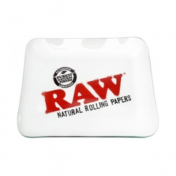 RAW Clear Glass Rolling Tray