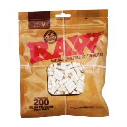 RAW Slim 6mm Cotton Filter Tips 200 Bag