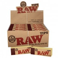 50 RAW Original Regular Standard Rolling Tips Full Box