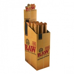 15 RAW Classic Supernatural 12 Inch Pre-Rolled Cones 1 per Pack Full Box