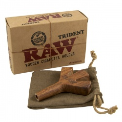 RAW Trident Triple Wooden Cigarette Holder