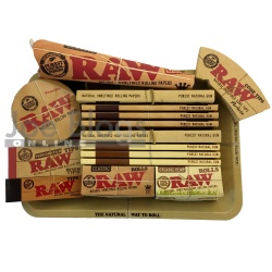 RAW Mini Rolling Tray Classic & Organic Gift Set PLUS - Choice of tray!