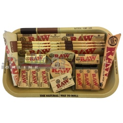 RAW Small Classic & Organic Rolling Tray Gift Set PLUS - Choice of tray!