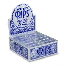 24 Rips Blue King Size 5m Rolls Full Box