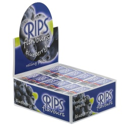 24 Rips Blueberry Flavoured 4m Slim Rolls Full Box