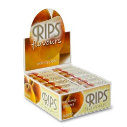 24 Rips Peach Flavoured 4m Slim Rolls Full Box