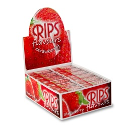24 Rips Strawberry Flavoured 4m Slim Rolls Full Box