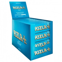 100 Rizla Blue Regular Rolling Papers Full Box