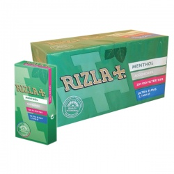 20 Rizla Menthol Ultra Slim Filter Tips 120 per Pack Full Box