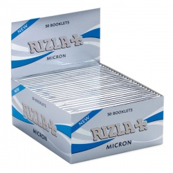 50 Rizla Micron King Size Slim Rolling Papers Full Box