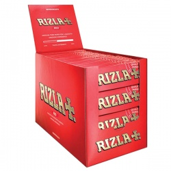 100 Rizla Red Regular Rolling Papers Full Box