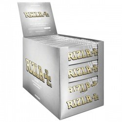 100 Rizla Silver Regular Rolling Papers Full Box