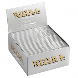 50 Rizla Silver King Size Slim Rolling Papers Full Box