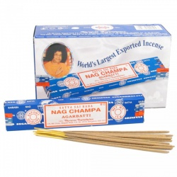 Satya Original Nag Champa Incense Sticks 12 x 15g Full Box