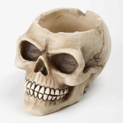 Resin Cast Skull Ashtray Bowl