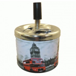 London Design Metal Spinning Ashtray