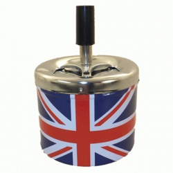 Union Jack Metal Spinning Ashtray