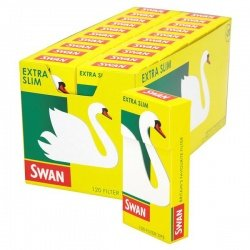 20 Swan Extra Slim Filter Tips 120 per Pack Full Box