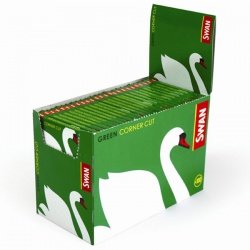 100 Swan Green Standard Regular Rolling Papers Full Box