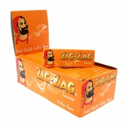 50 Zig-Zag Liquorice Regular Single Wide Rolling Papers Full Box