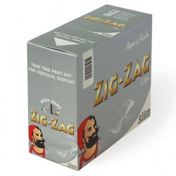 50 Zig-Zag Silver King Size Slim Rolling Papers Full Box