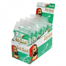 10 Zig-Zag Slim Menthol Filter Tips 150 per Box