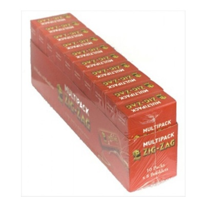 80 Zig-Zag Red Regular Rolling Papers 10 x 8 Multipacks Full Box